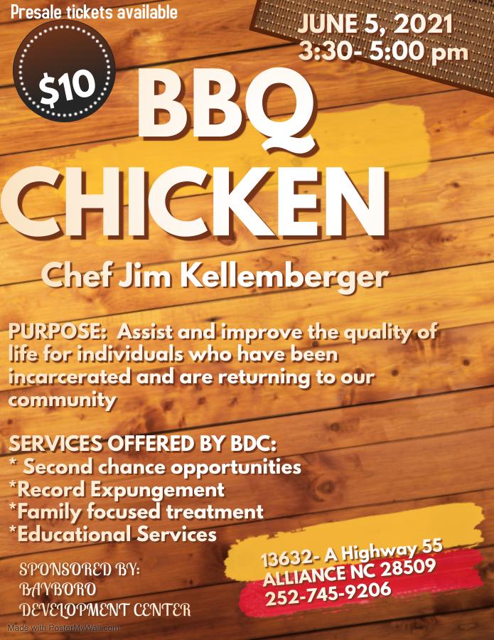 BBQ Chicken Dinner to support Bayboro Development Center