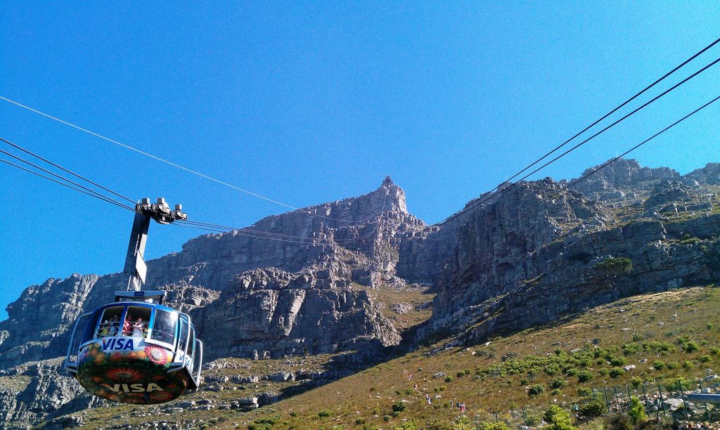 Cable-car-going-up-Table-Mountain