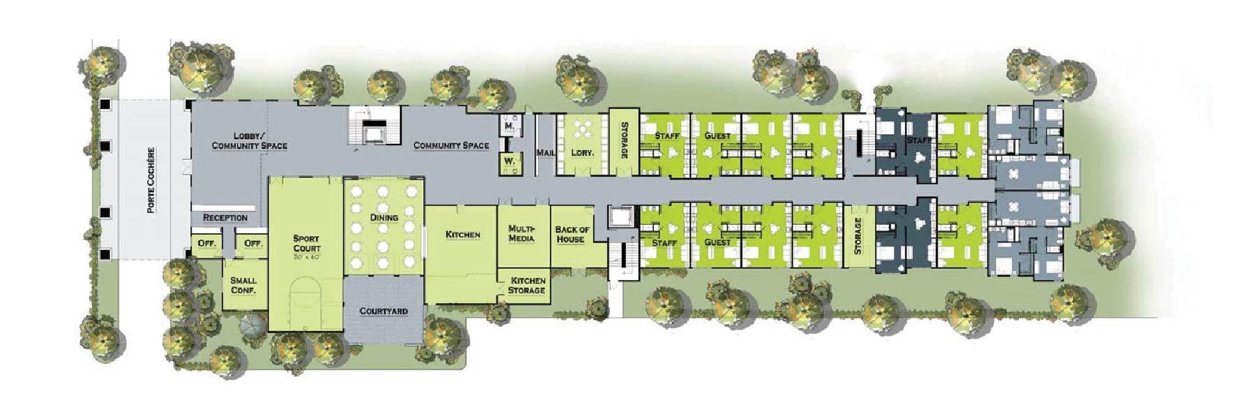 Trailhead Ground Level Floor Plans