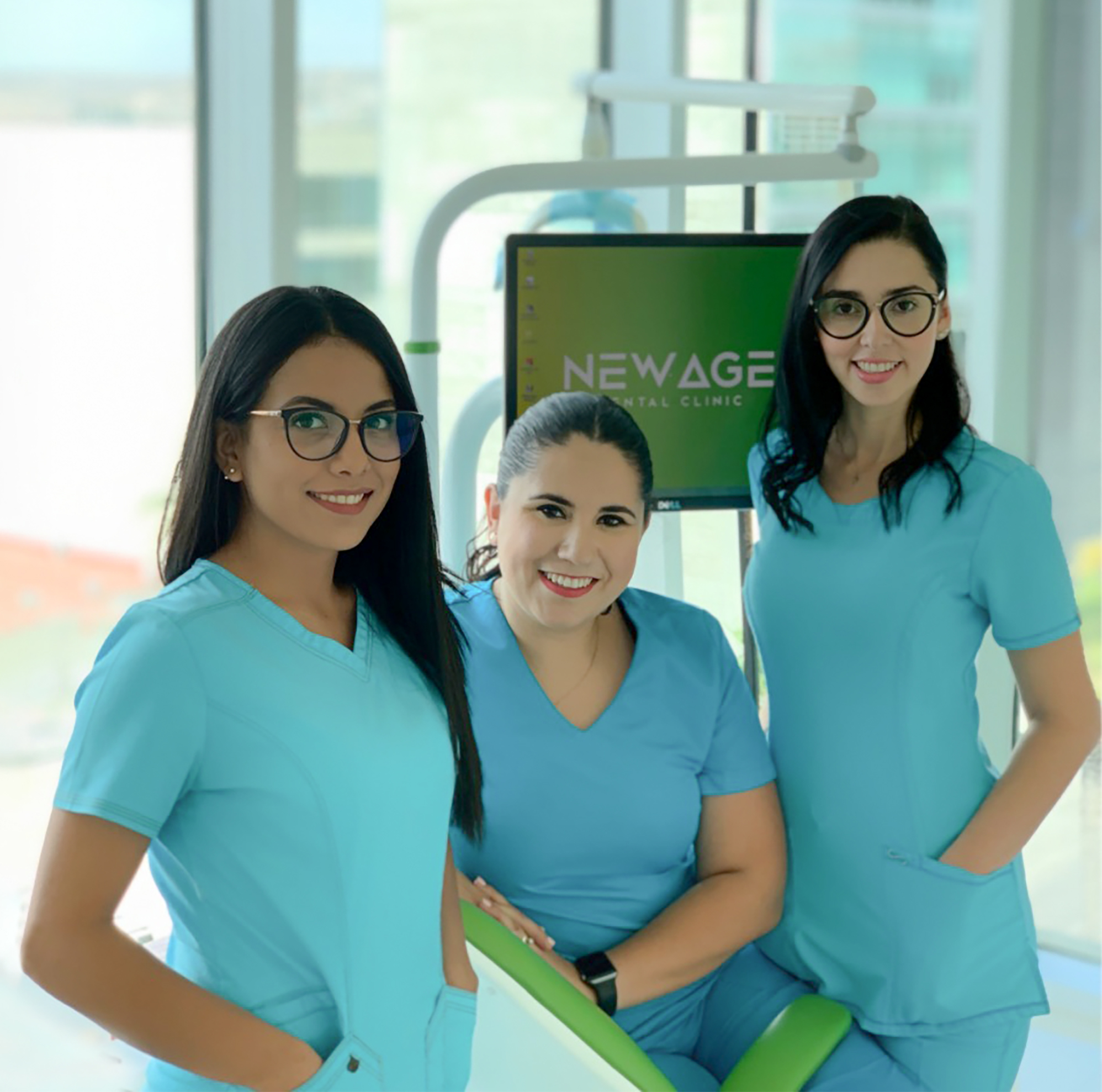 Dr. Alejandra, Dr. Lorena and Dr. Silvia at New Age Dental Clinic in Tijuana