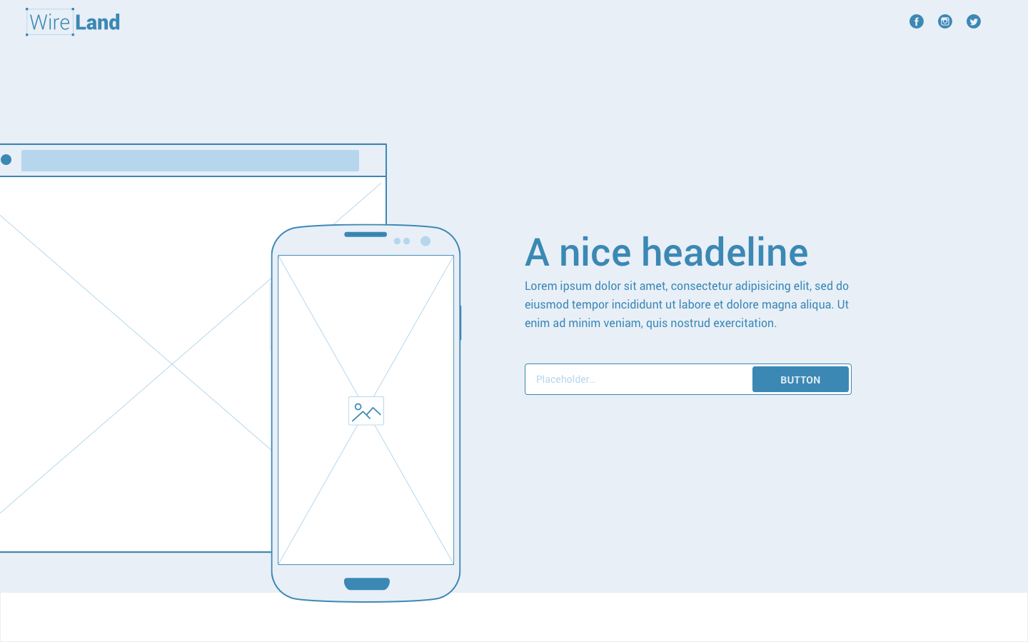 Wireframe for web