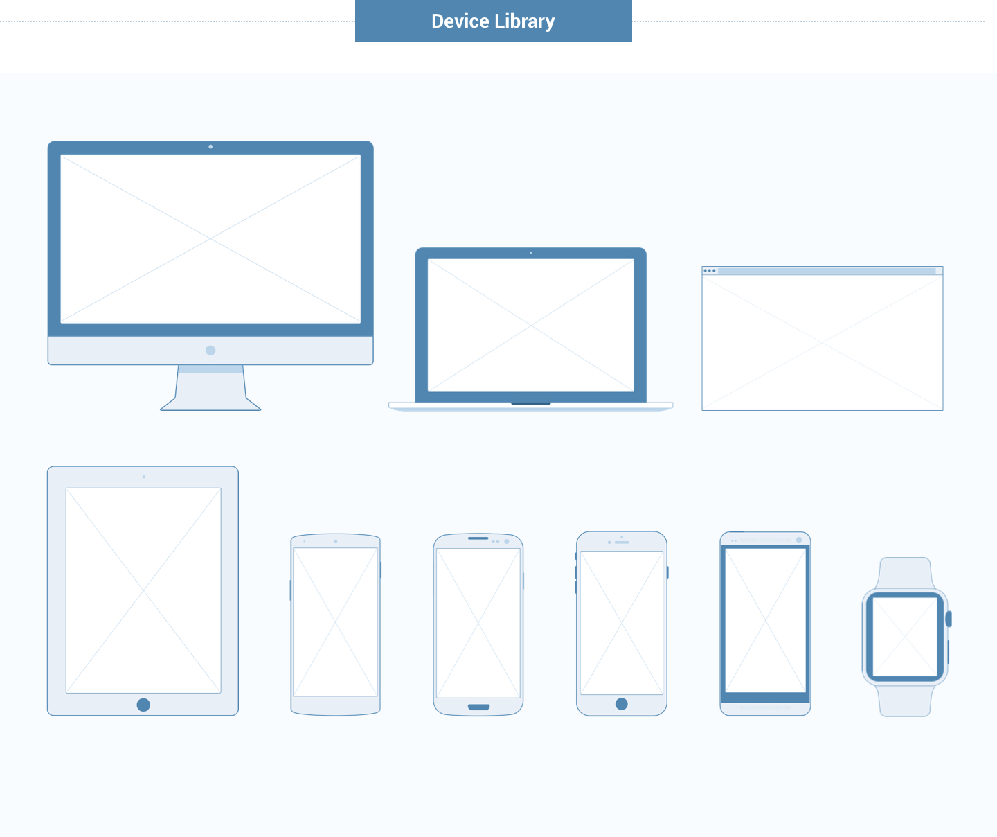 Wireframe for web - Devices