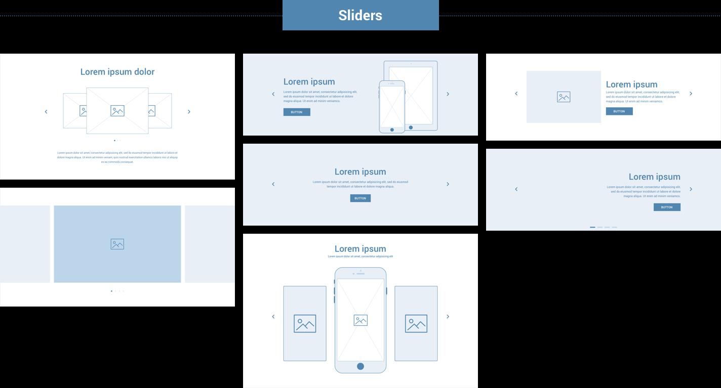 Wireframe for web - Slider