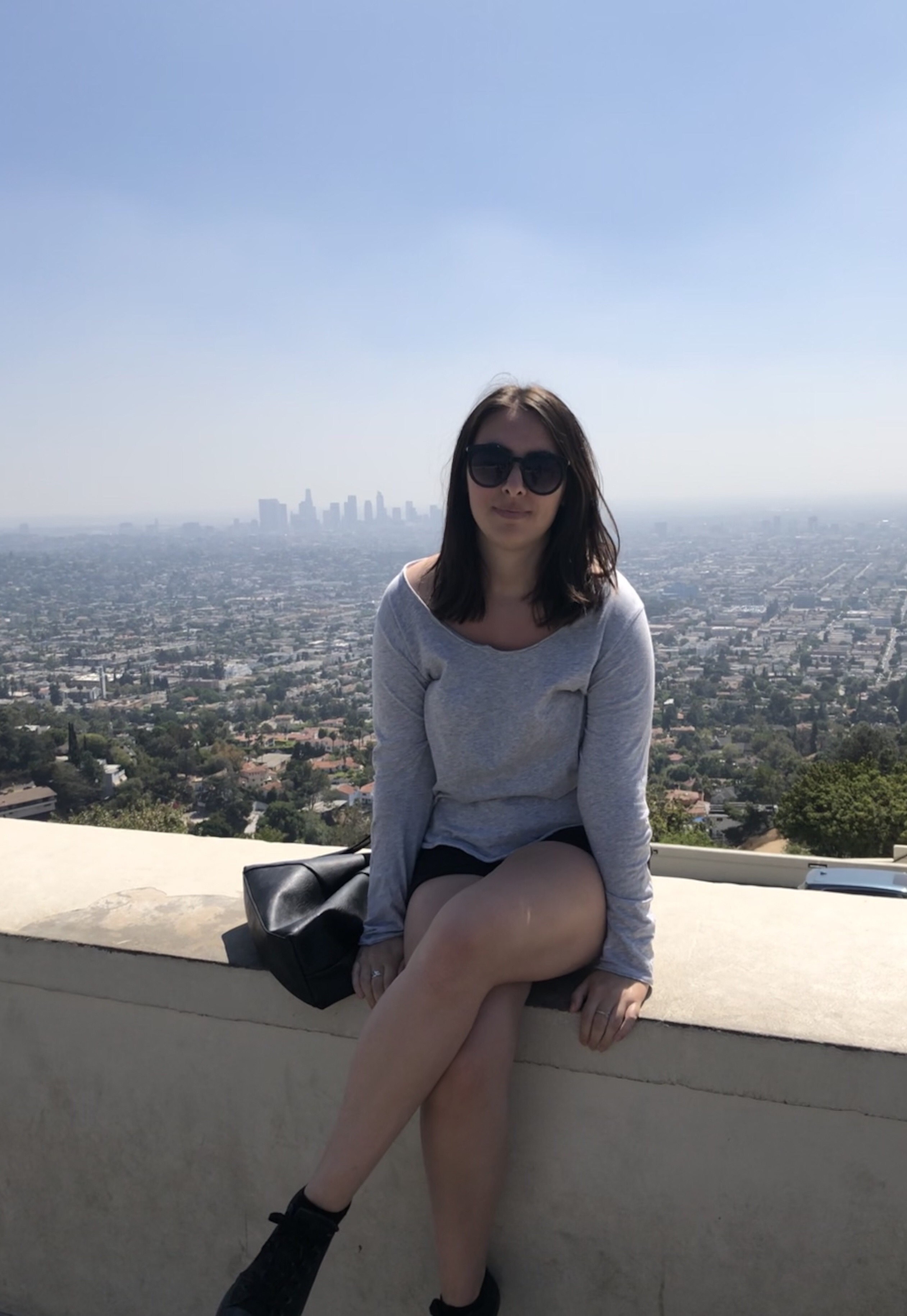 Lauren at the Griffith Observatory