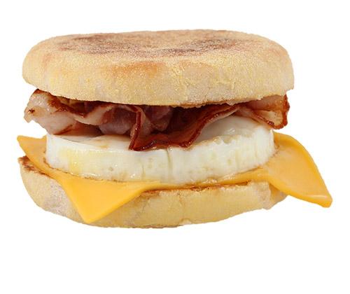БагМаффин с яйцом и беконом