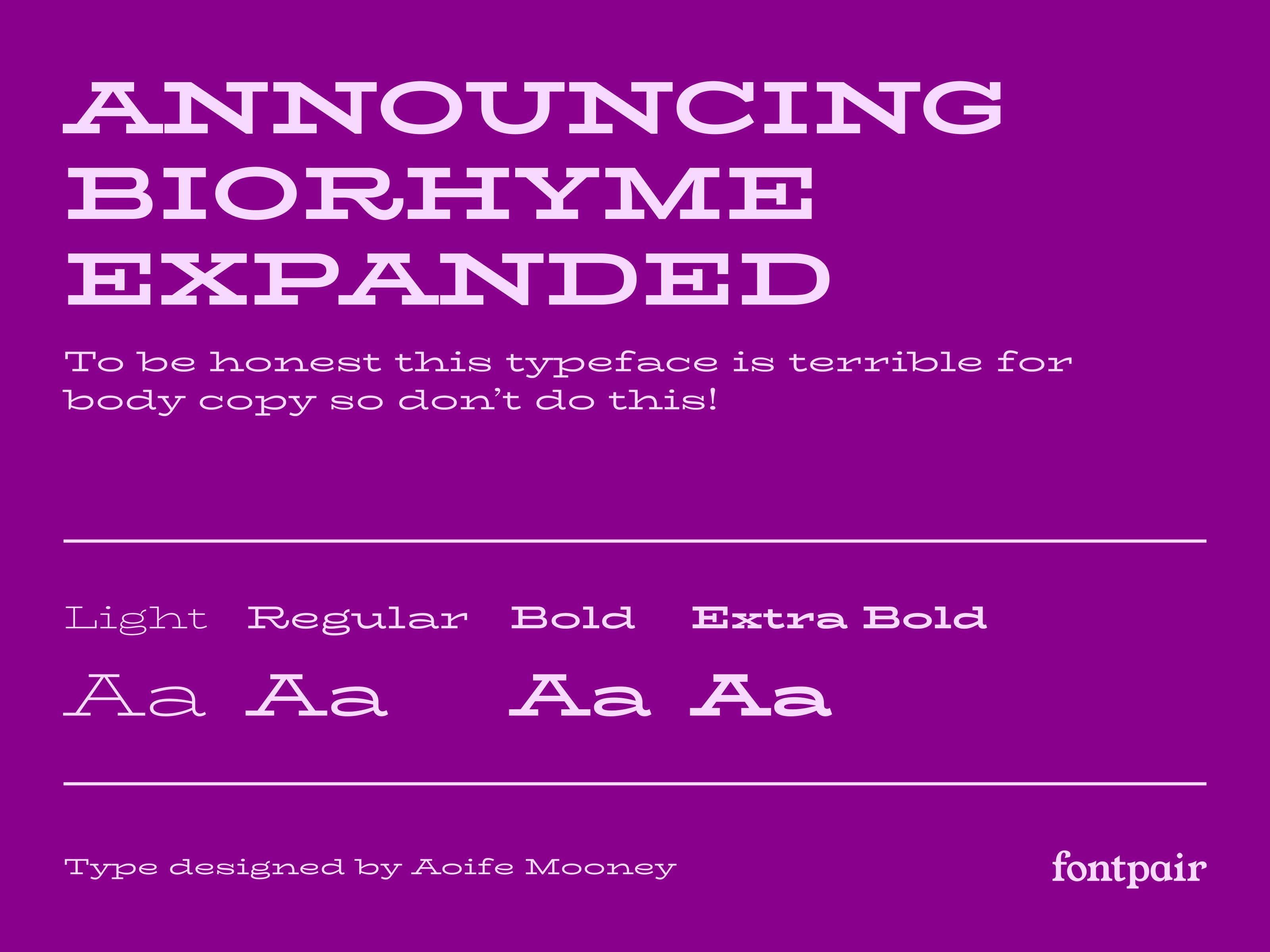 BioRhyme Expanded