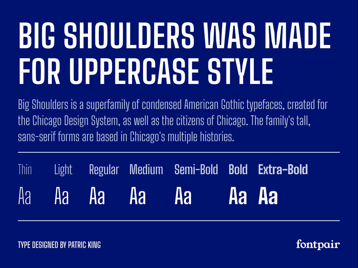 Big Shoulders Text