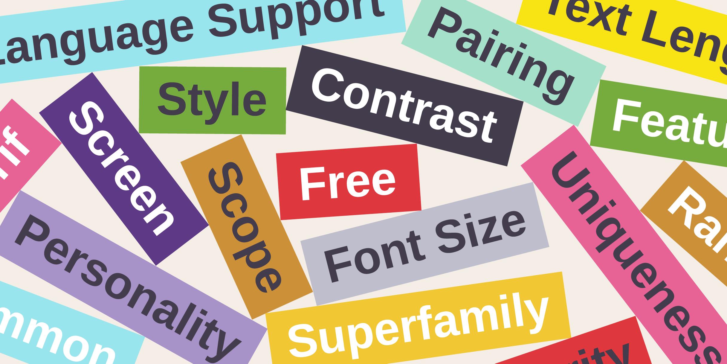 Choosing Web Fonts: A Beginner's Guide