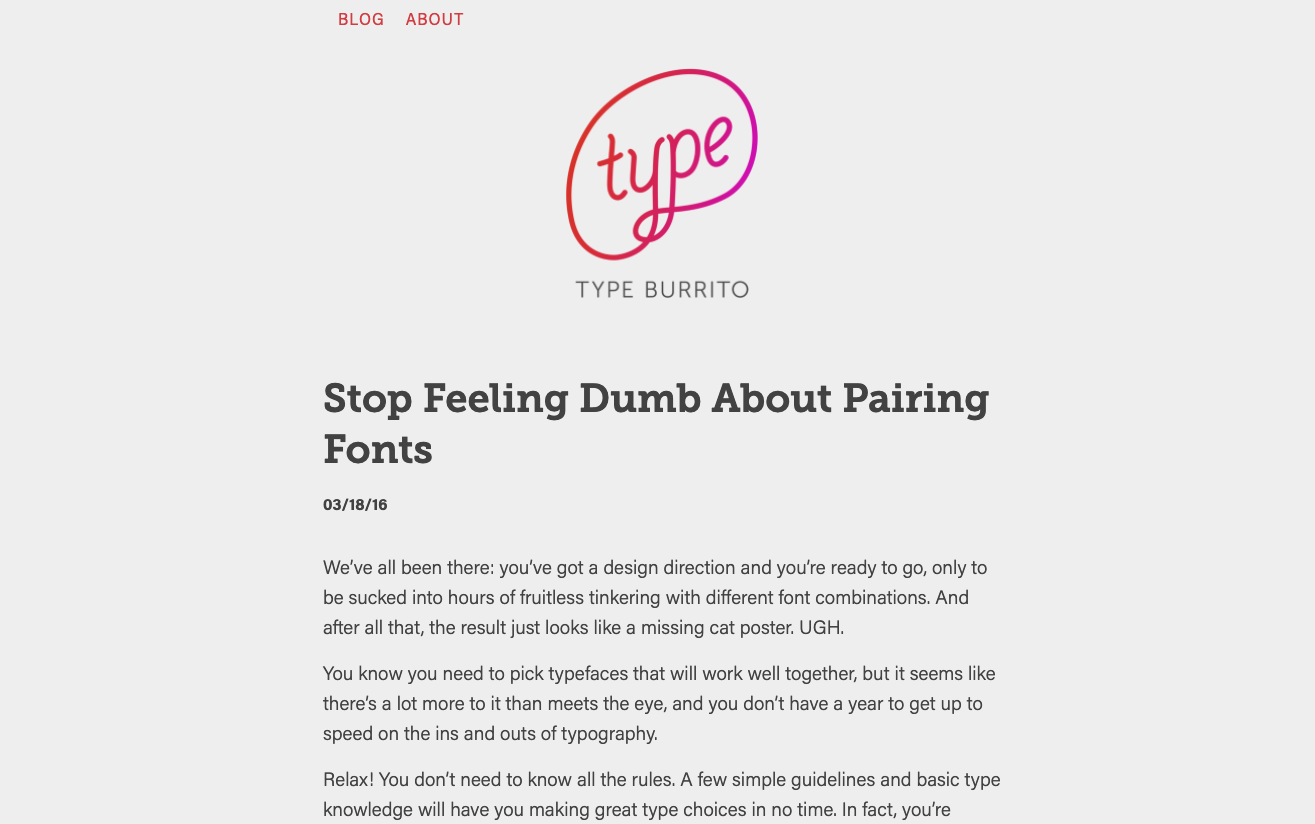 Stop Feeling Dumb About Pairing Fonts