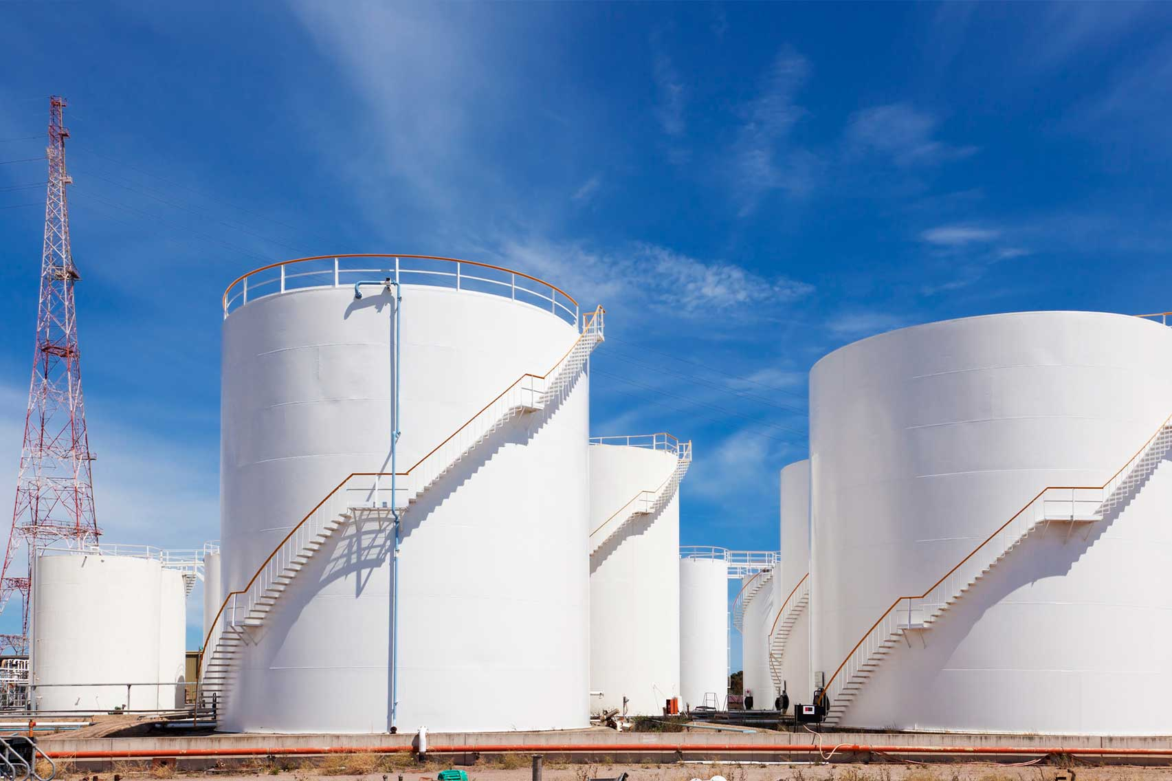 Oil and gas storage tanks from The Compliance Group