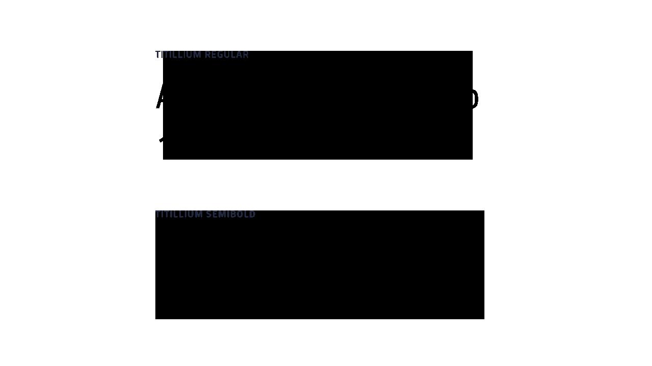 Sample of Titillium font