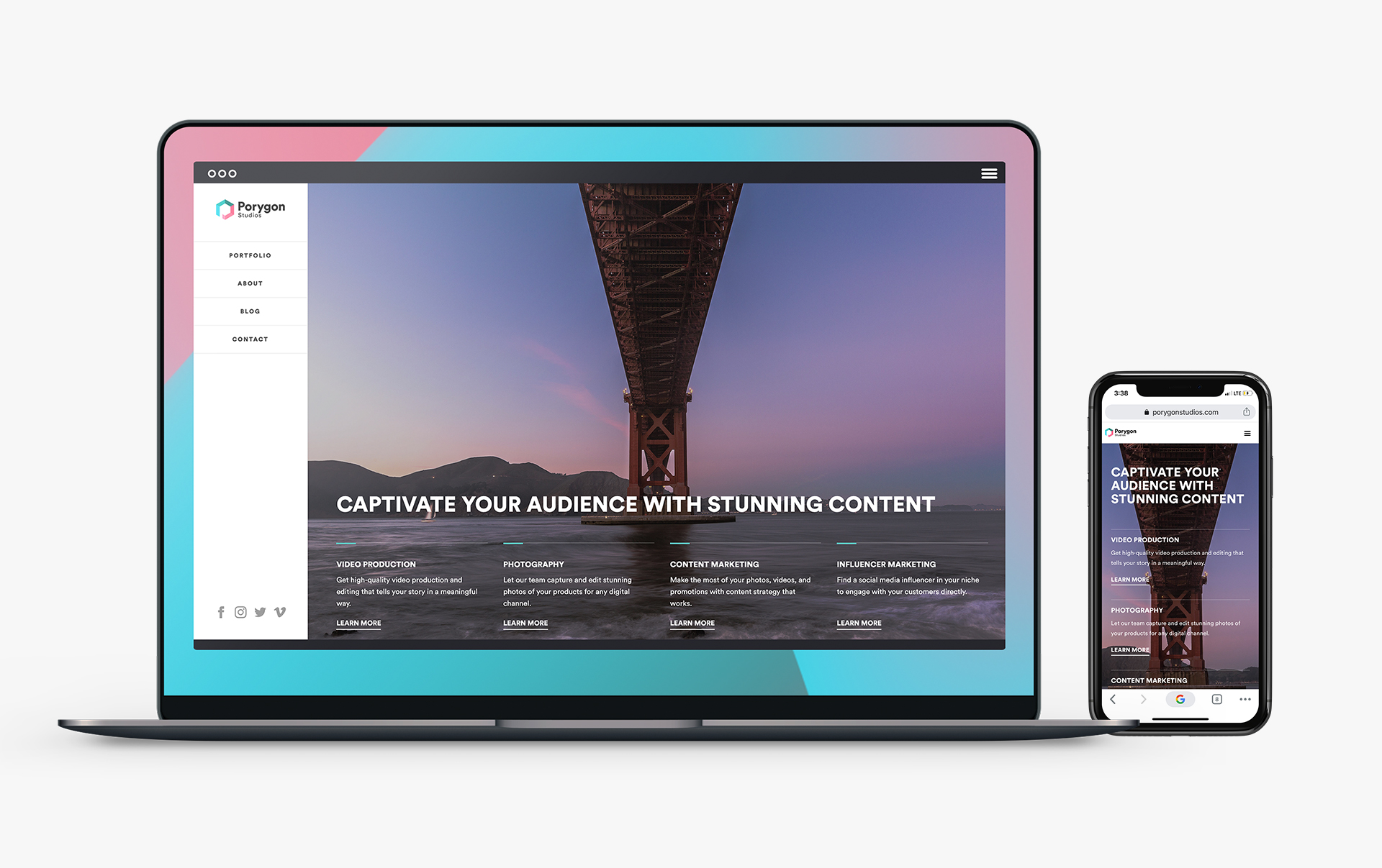 Porygon's custom website designed and developed using Webflow.