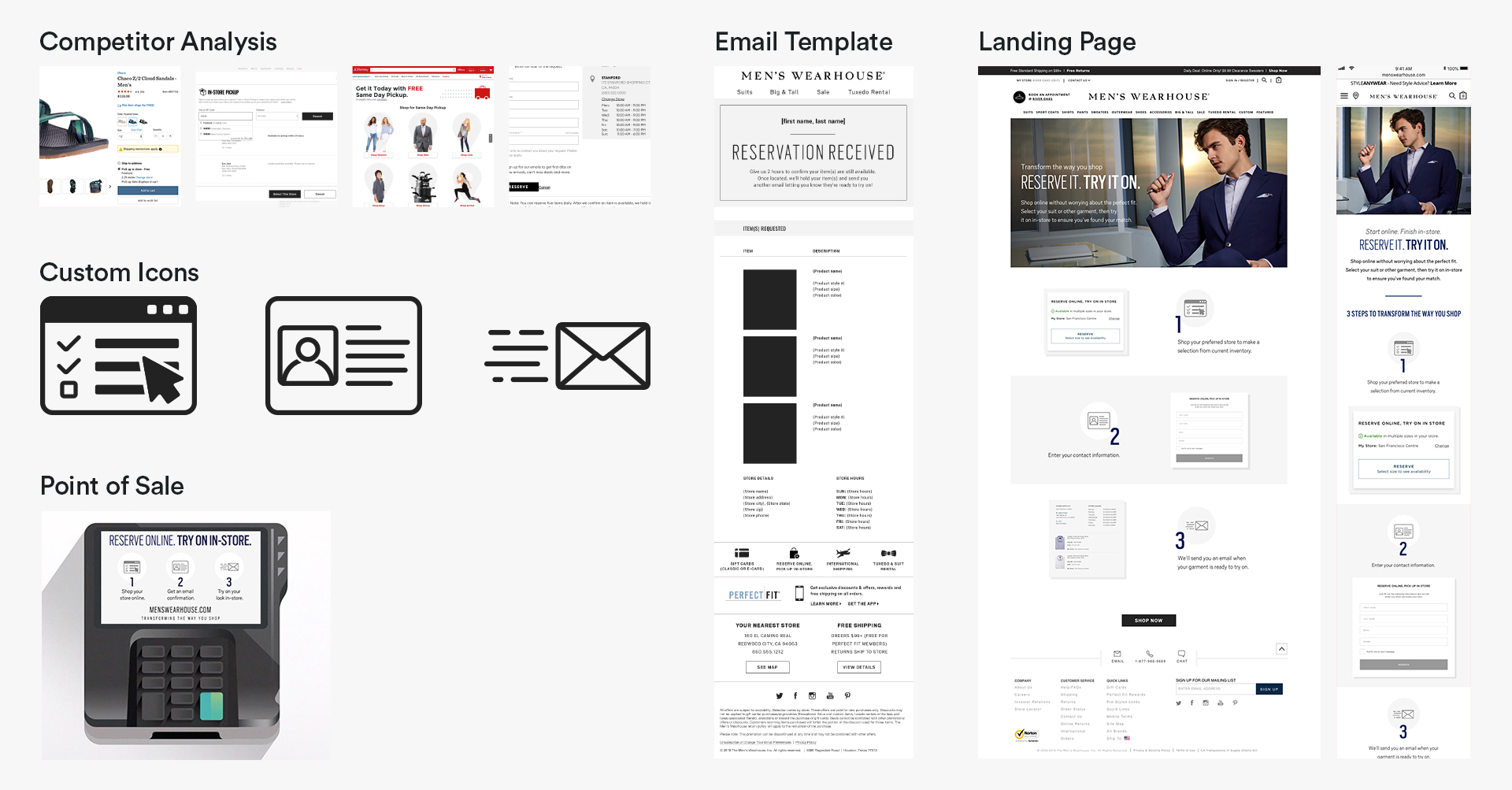 A few landing pages