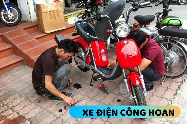 sửa chữa xe đạp điện ở đống đa