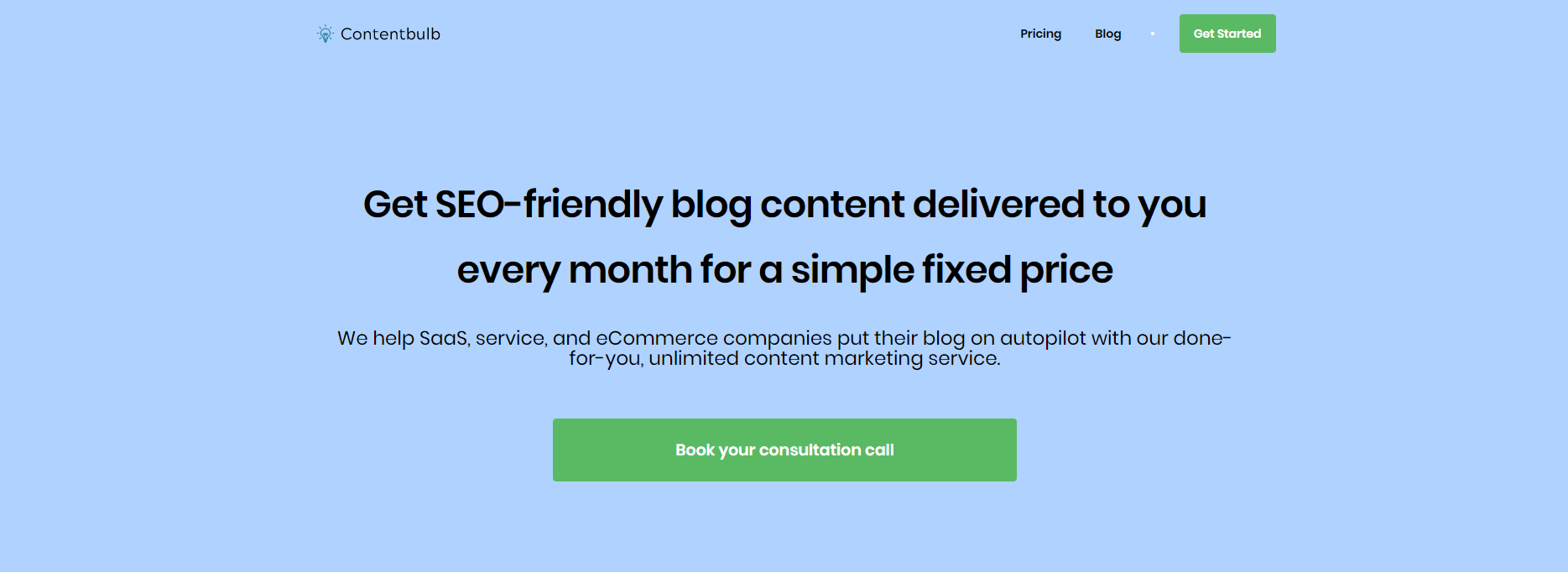 Get competitive content marketing pricing with Contentbulb