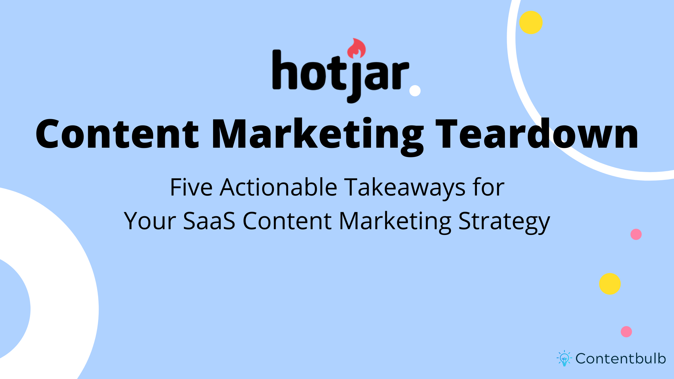 Hotjar Content Marketing Teardown + 5 Takeaways