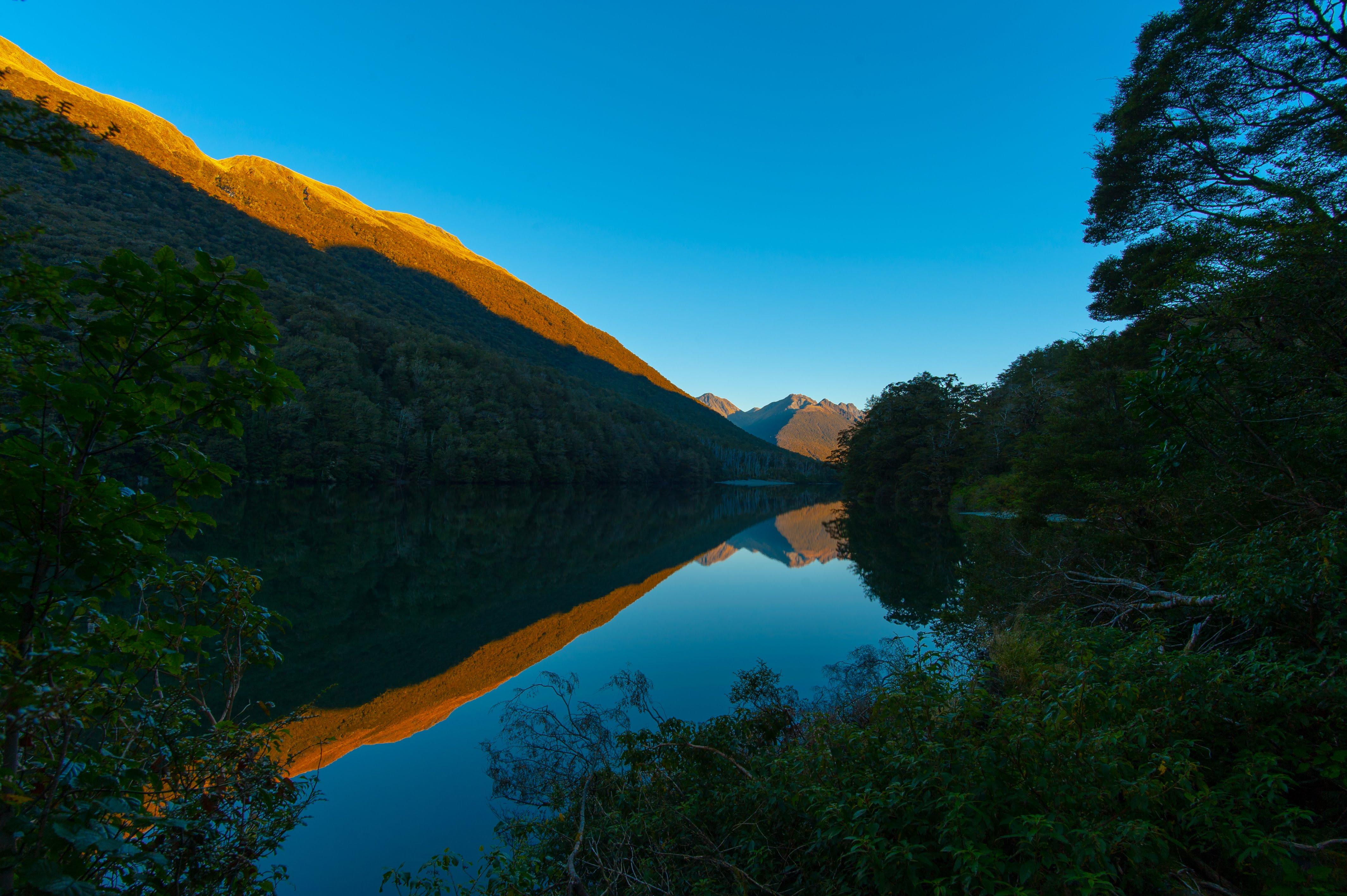 Mountain reflecting in a lake