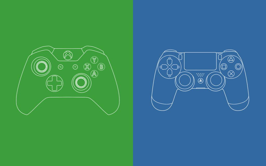 XBOX brand shown against the PlayStation Brand