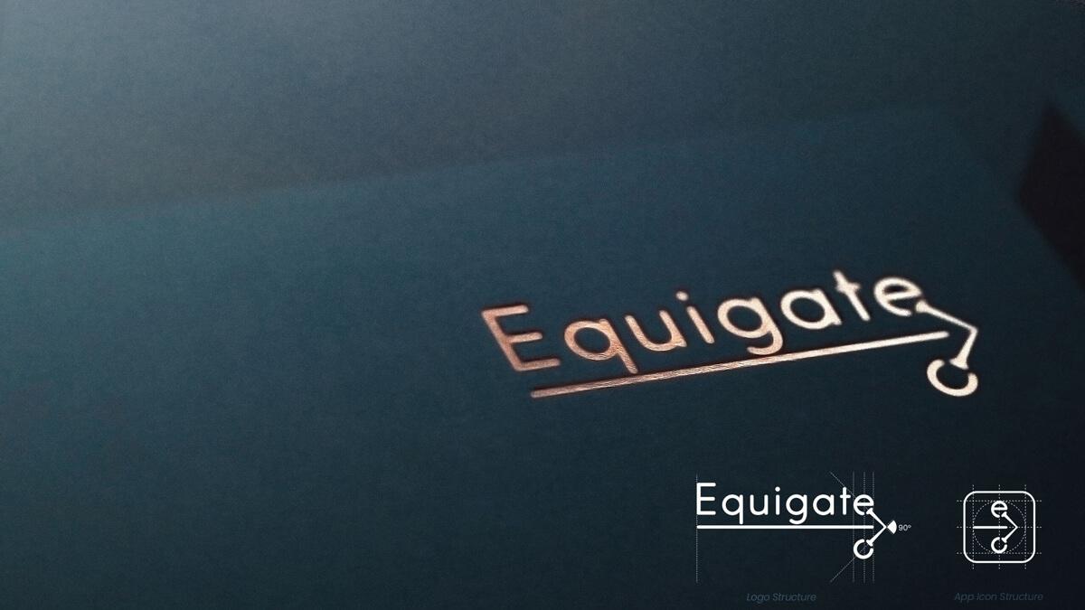 Equigate logo mockup