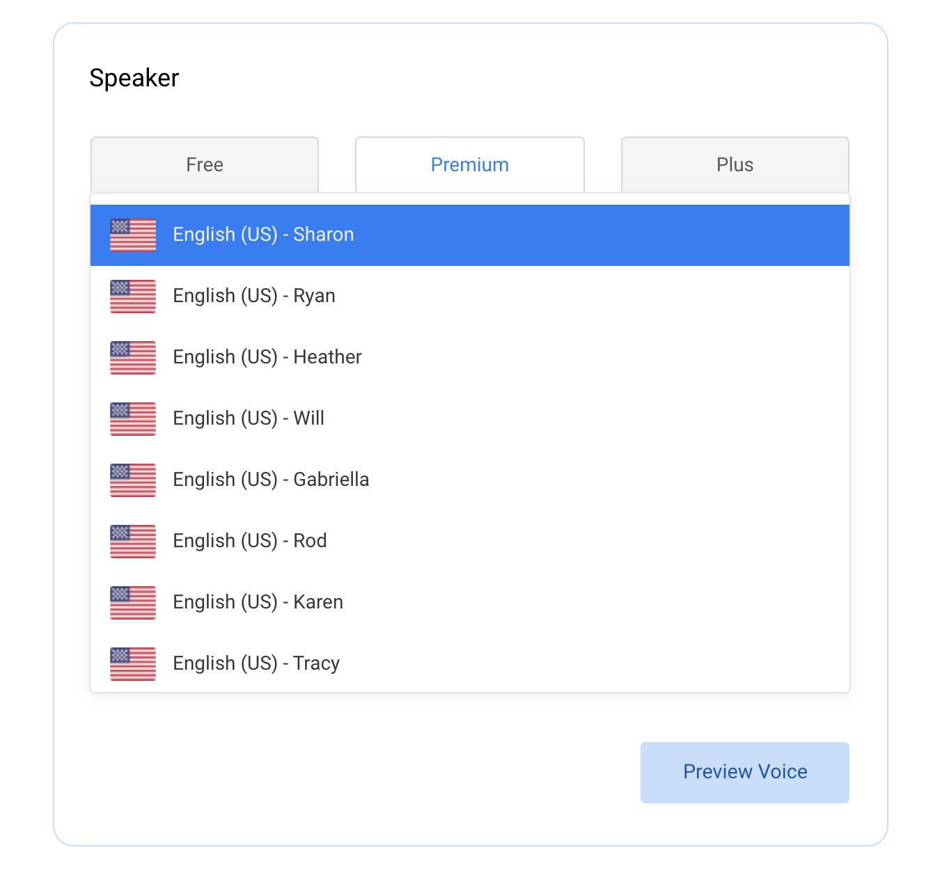 change speaker