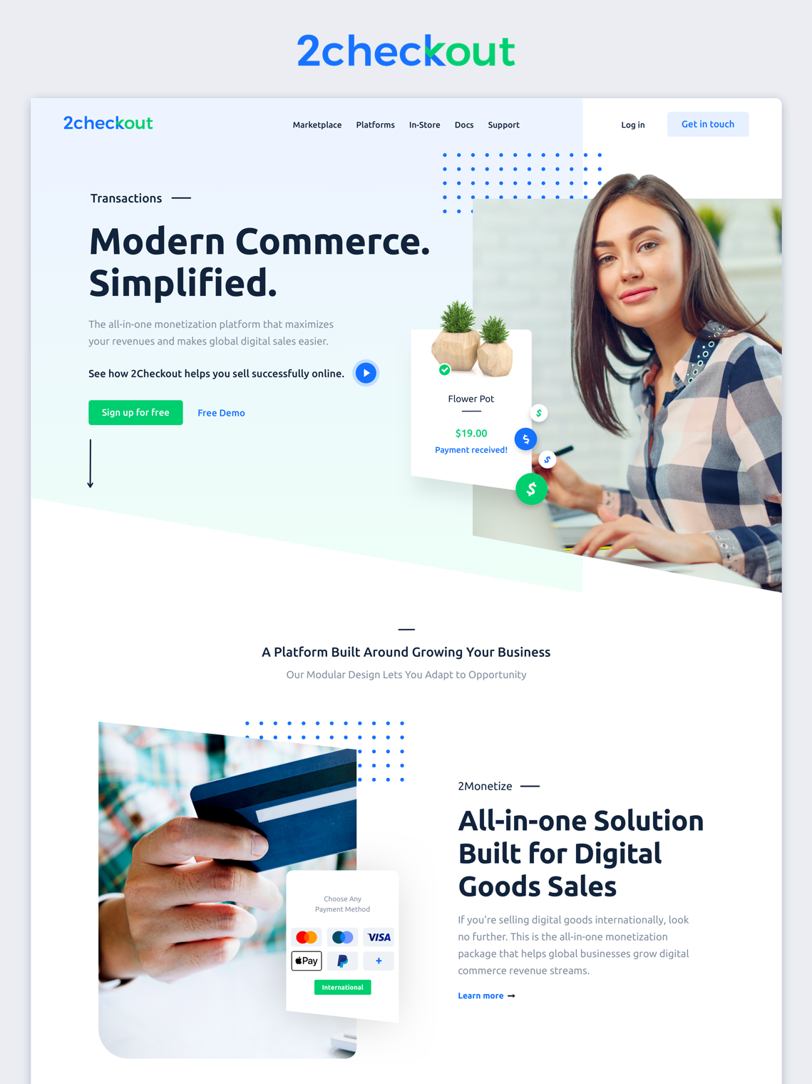 b2b payments design page