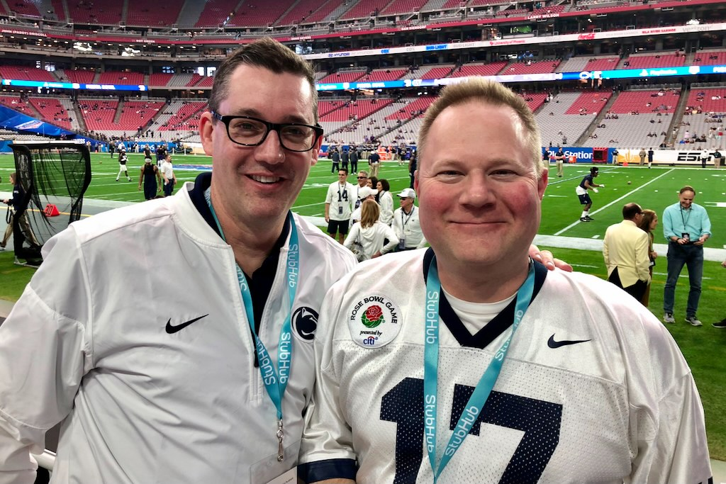 RIsclarity's founders attending Penn State football game