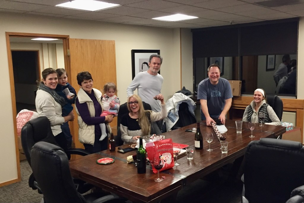 Risclarity team party around the holidays