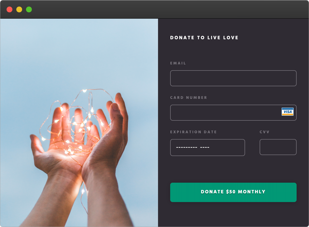 Embed kweeve donation form on your website