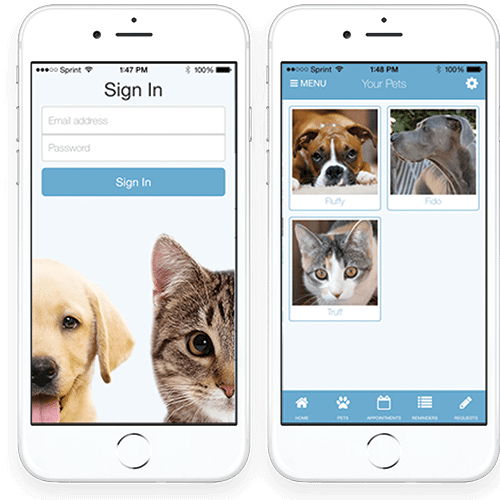 University Veterinary Care Center Pet Page App