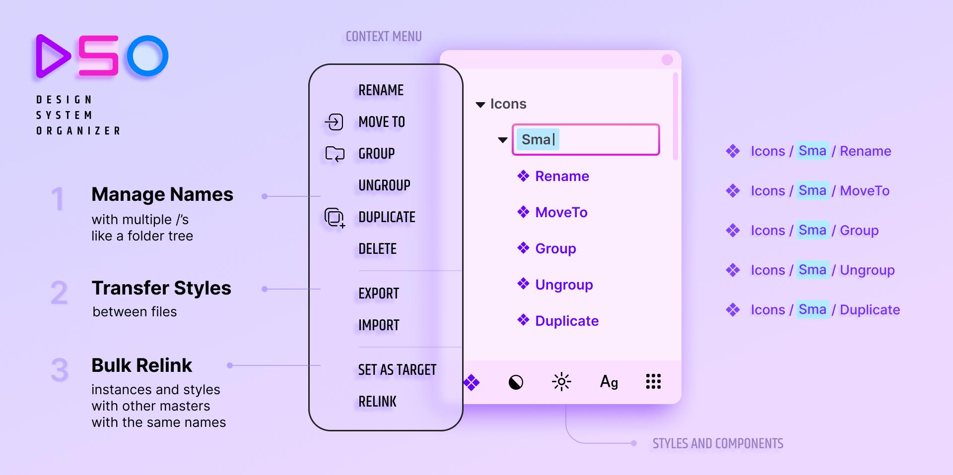 design system organizer figma plugin