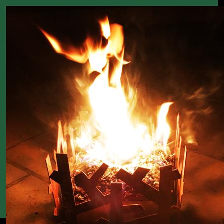 Haspencubes - Haspencubes, houtkaarsen gemaakt van houtsnippers en paraffine.