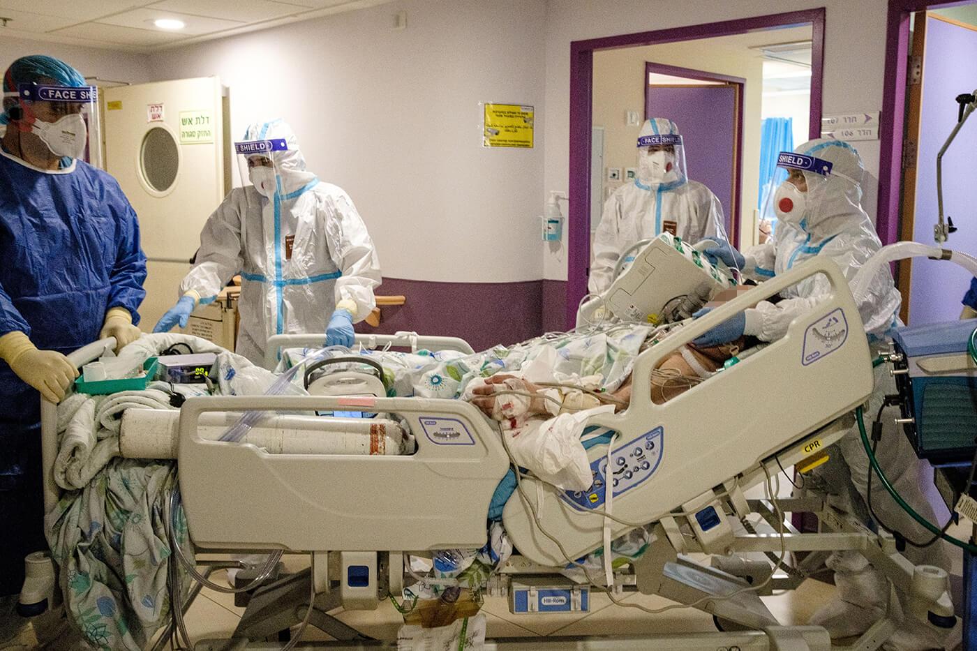 מחלקת הקורונה בבית החולים בנהריה (צילום: ביאה בר קלוש)