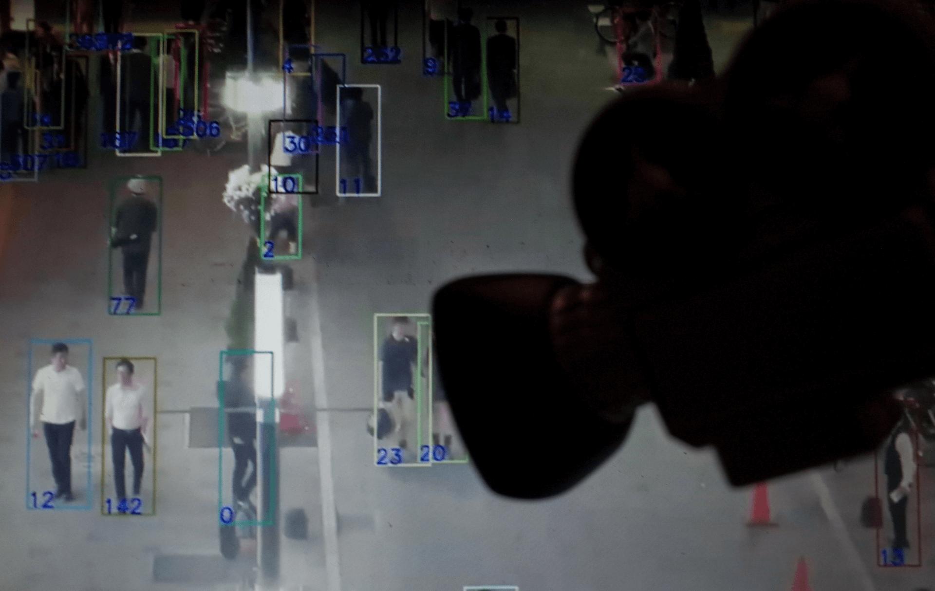 הדמיית טכנולוגיית מעקב אחר אזרחים בסין. צילום: רויטרס