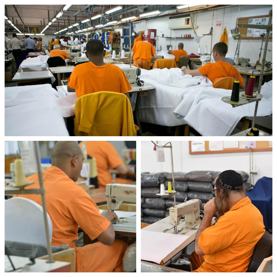 """אסירים עובדים בכלא איילון. צילומים: עופר ועקנין, קובי גדעון - לע""""מ"""