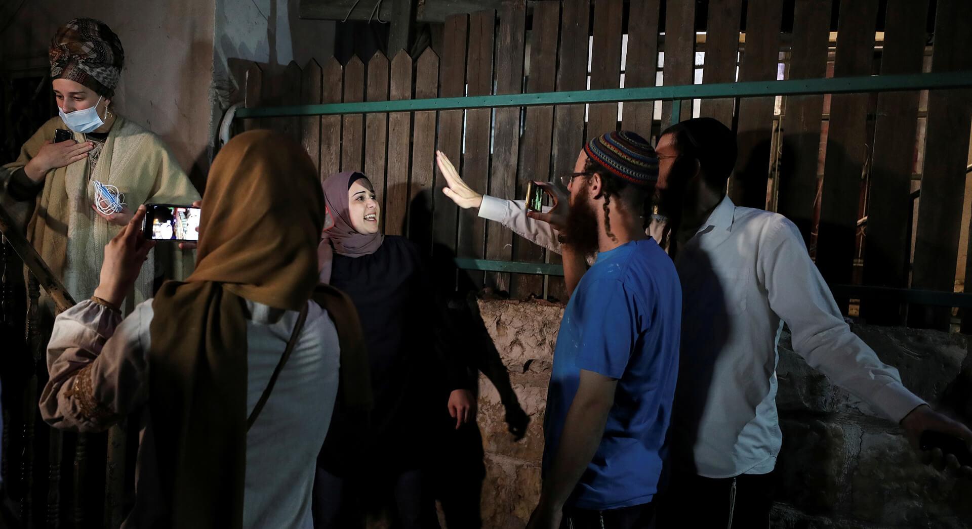 העימותים בשייח' ג'ראח. (צילום: רויטרס)