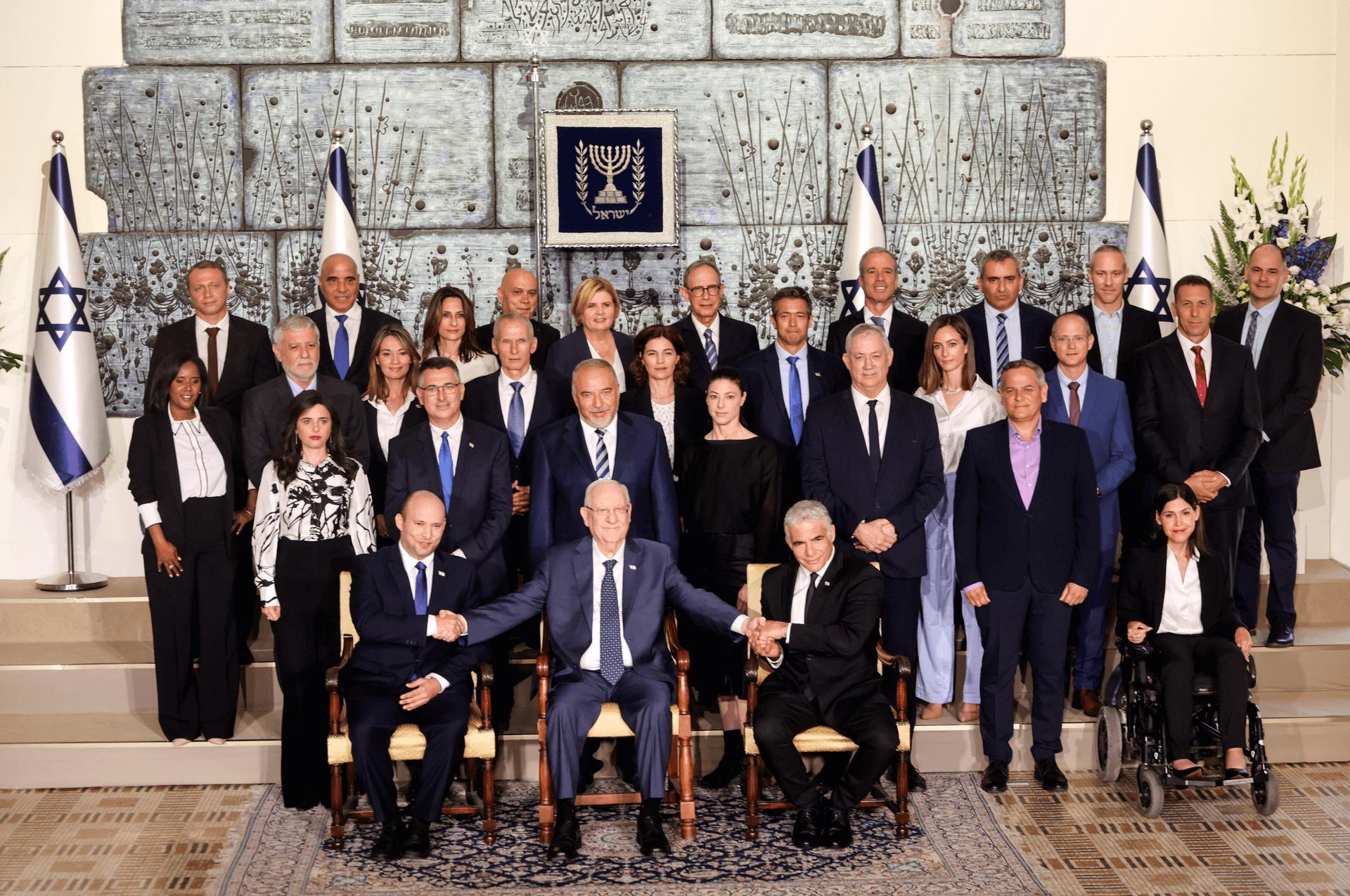 ממשלת ישראל ה-36, השבוע בבית הנשיא. צילום: רויטרס