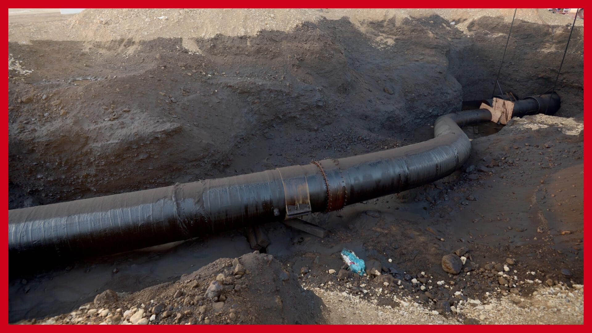 """צינור הנפט שהתפוצץ בערבה ב-2014. צילום: עמוס בן גרשום - לע""""מ"""