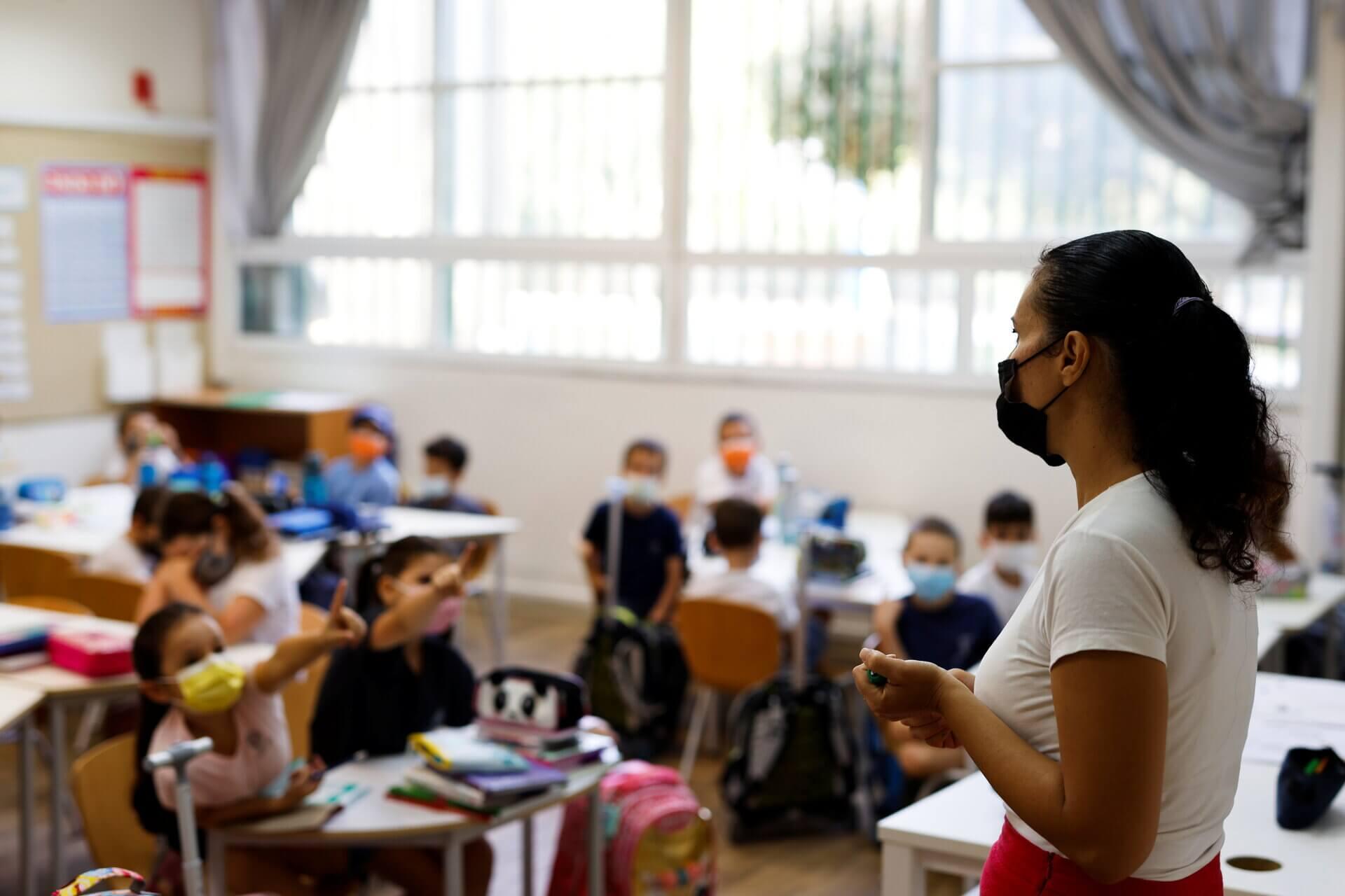ה-1 בספטמבר 2021 בבית ספר יסודי בתל אביב. צילום אילוסטרציה: רויטרס
