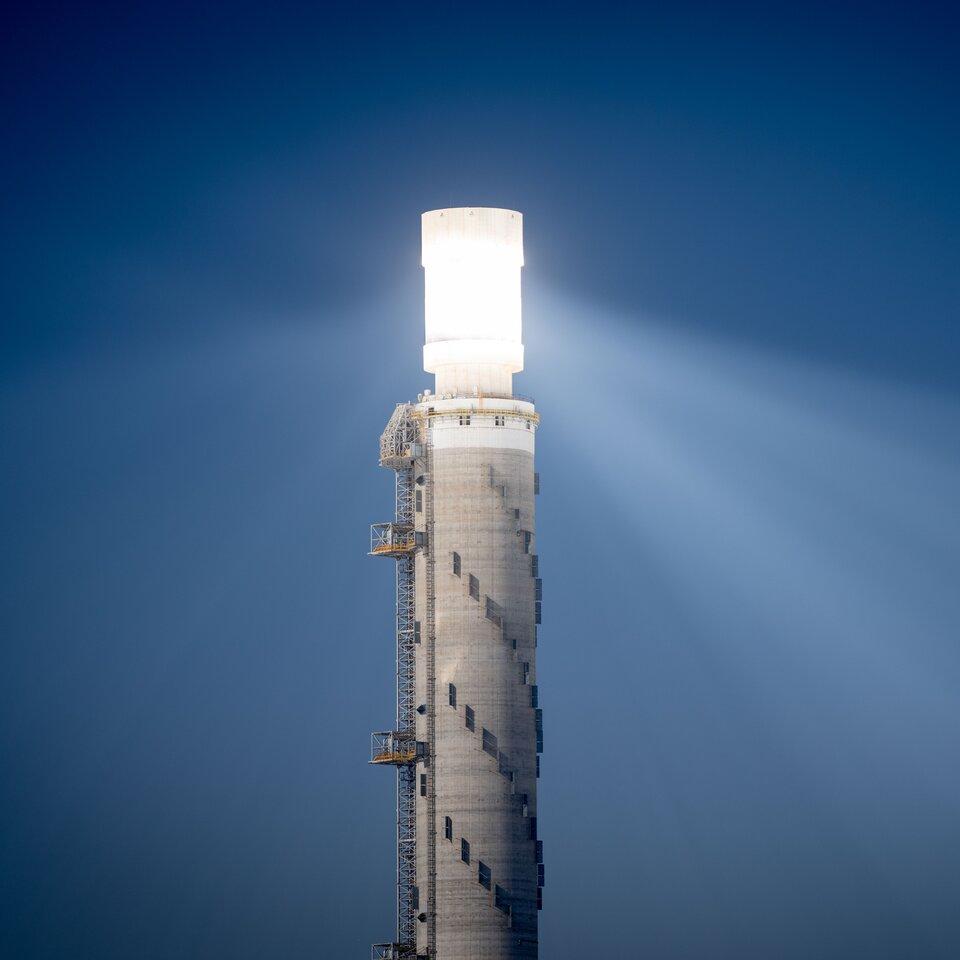 מגדל השמש באשלים שבנגב. צילום: רויטרס