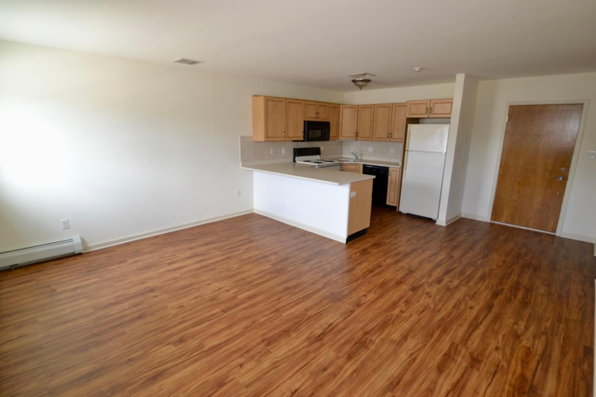 Remodeled Hardwood Floors