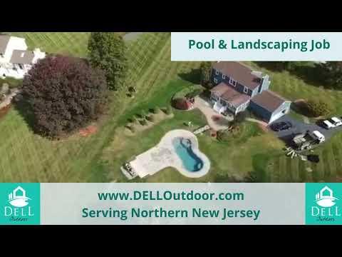 DELL NJ Outdoor Pool Installation Drone Footage