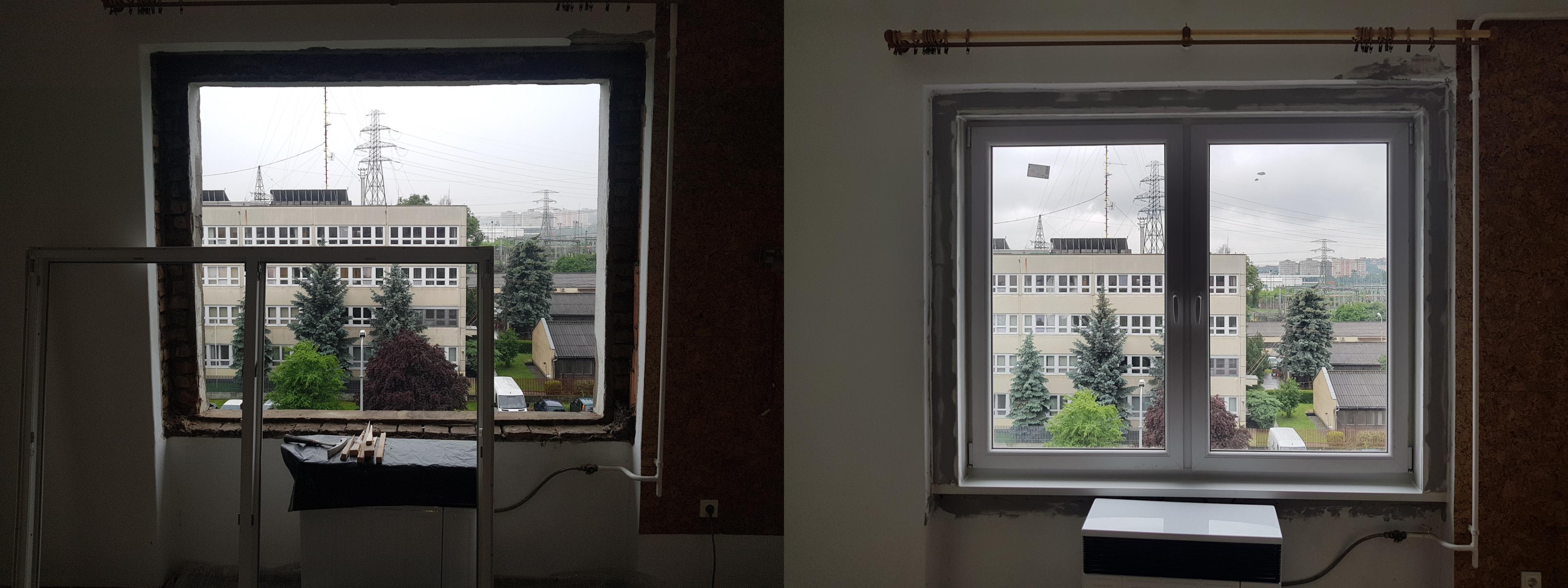 Kis ablak beépítés után