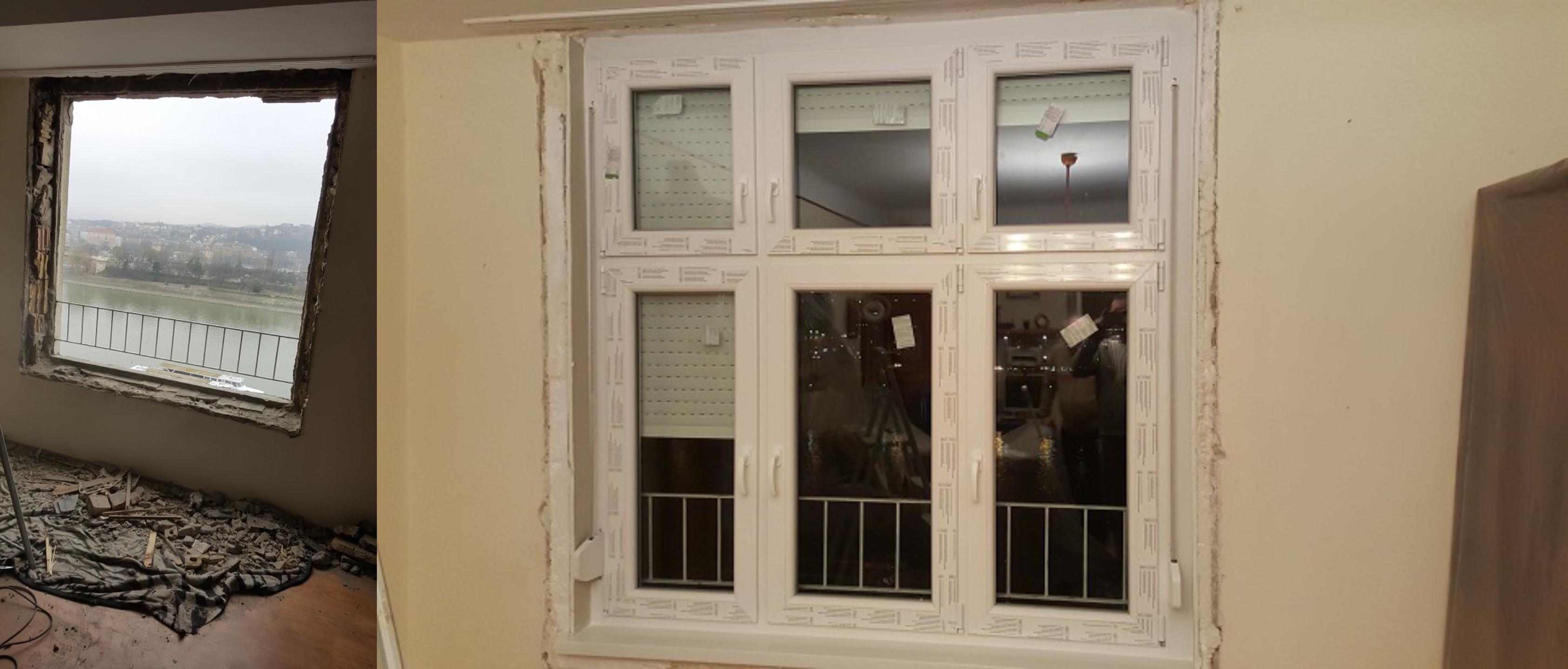 Panel lakás ablakcsere
