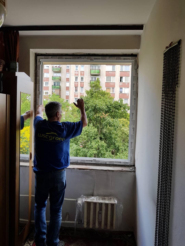 Ablakcsere folyamatban