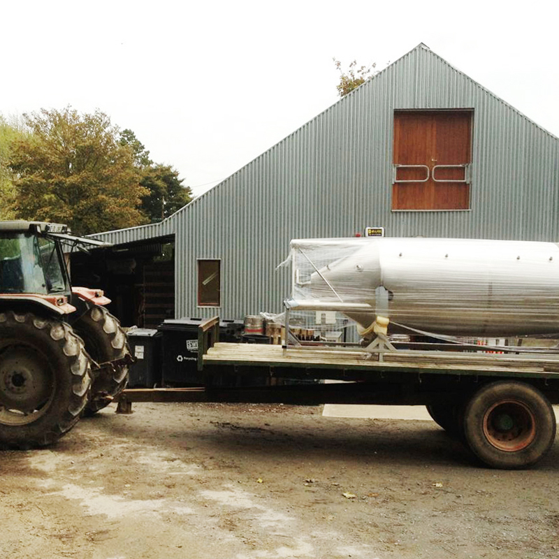 Our first 20HL tank arrives by agricultural means in 2014.