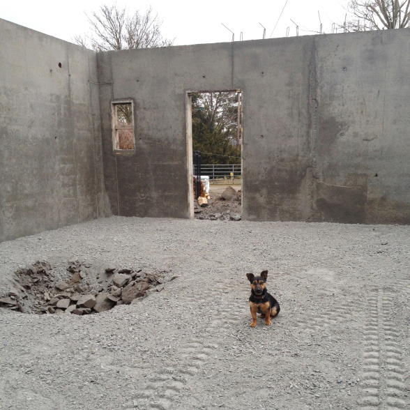 Zack posing for scale as we build K1 in 2013.