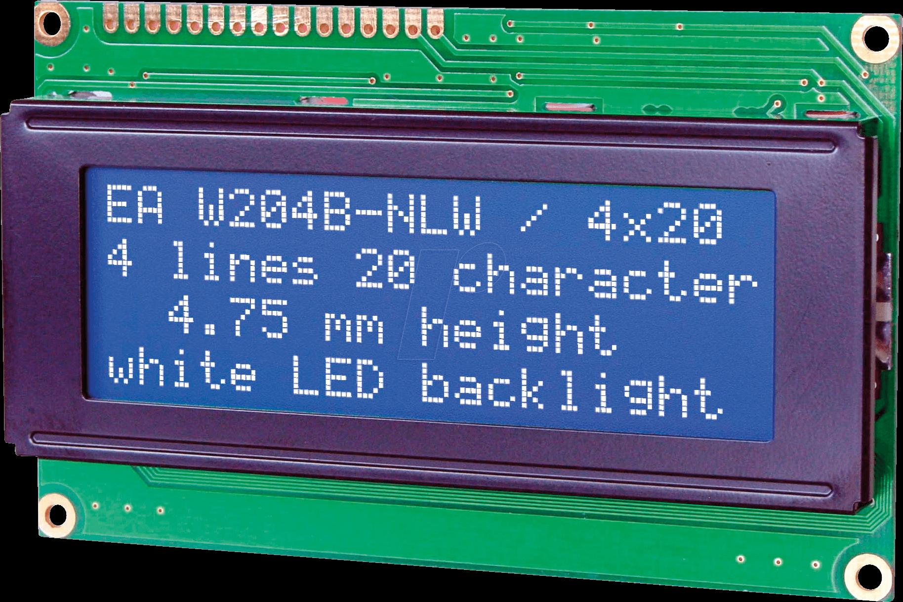 LCD blue display 204B BL LCD enabling 4 x 20 characters