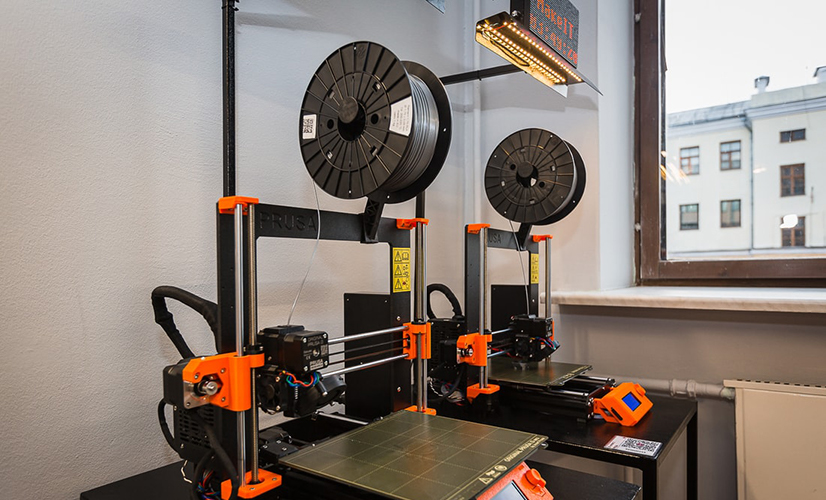 two 3D printers for self-prototyping