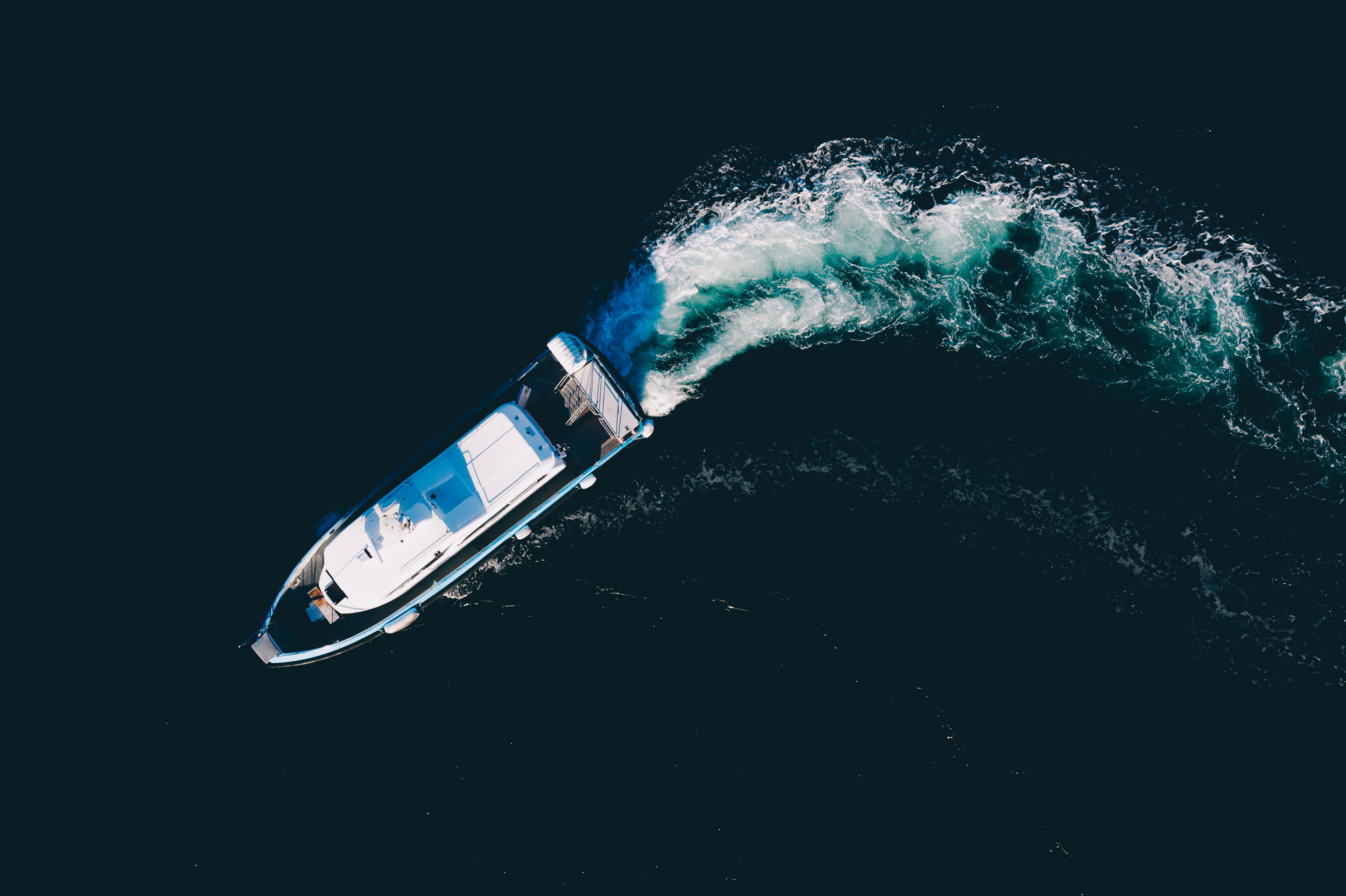 Båt sett ovenfra