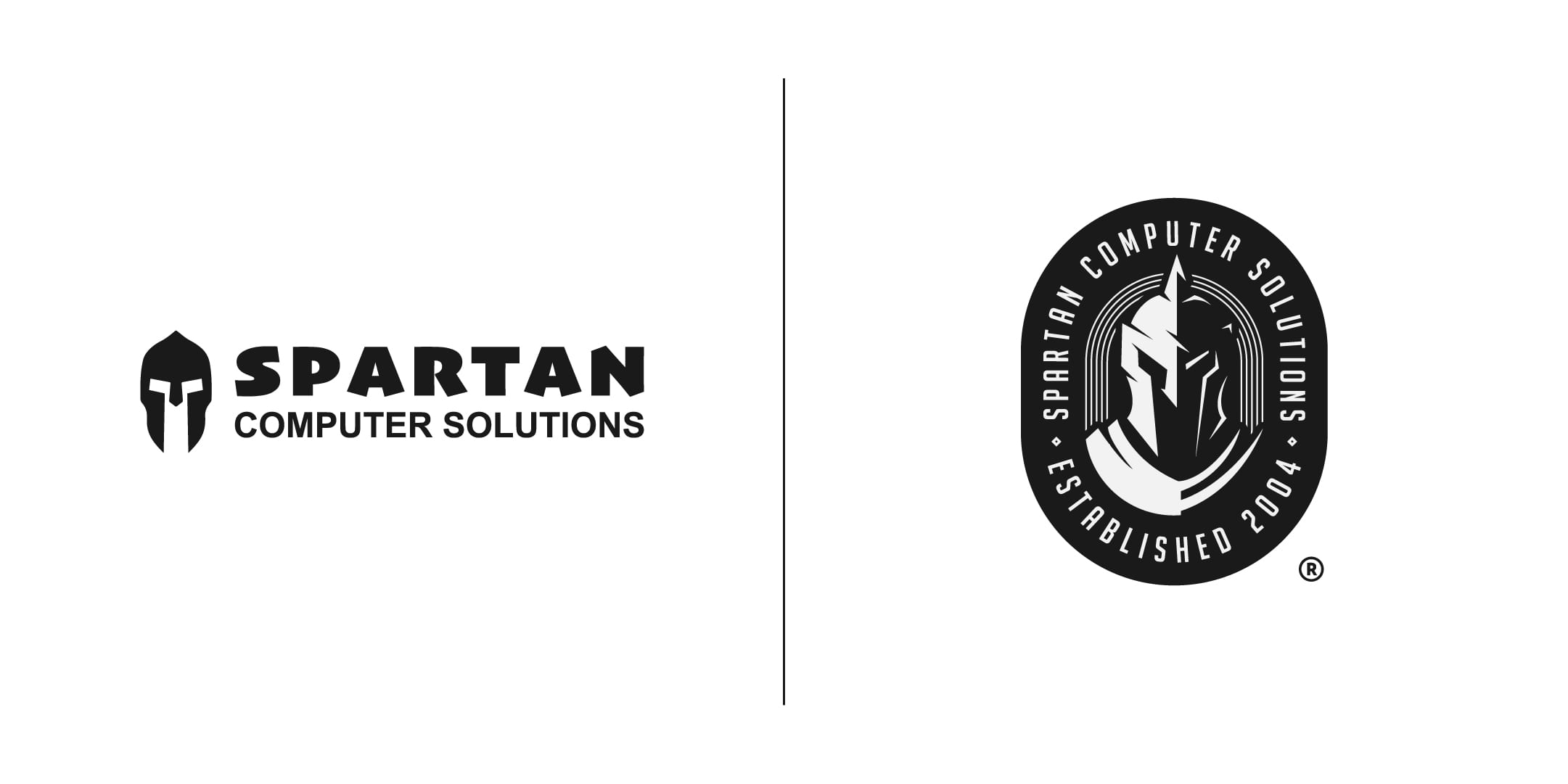 Spartan Computer Solutions Before and After Logo